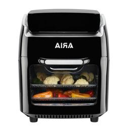 Aria 10 Qt. Black AirFryer Microwave Toaster Convection Oven
