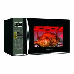 Black Emerson Microwave with Grill Kitchen Cooking Black LED
