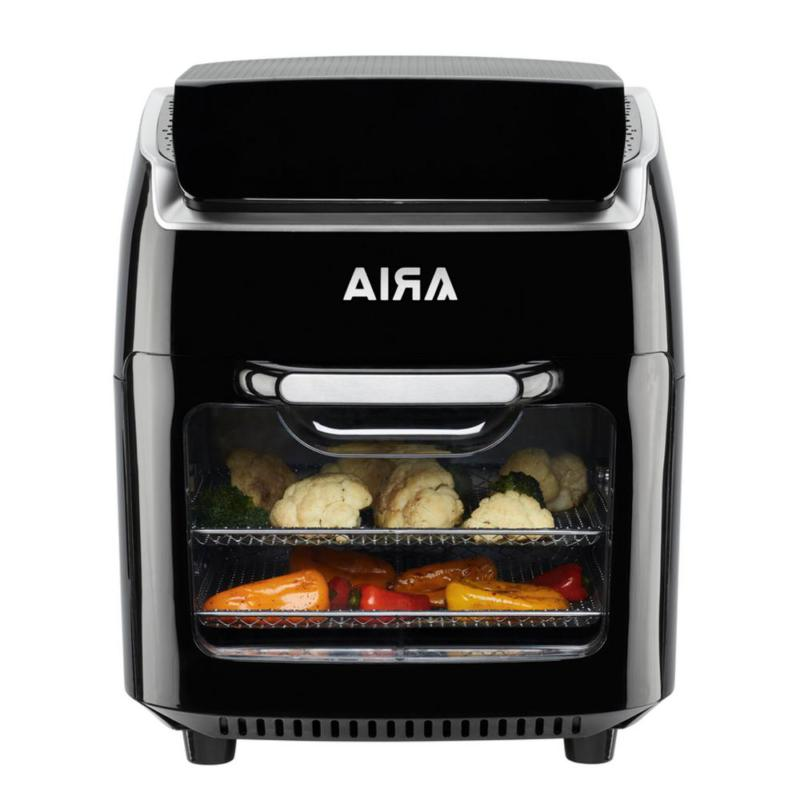 10 qt black airfryer microwave toaster convection
