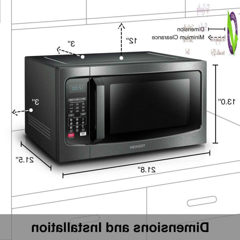 Toshiba Ec042A5C-Bs 1.5 Ft./1000W, Oven Convection, Black