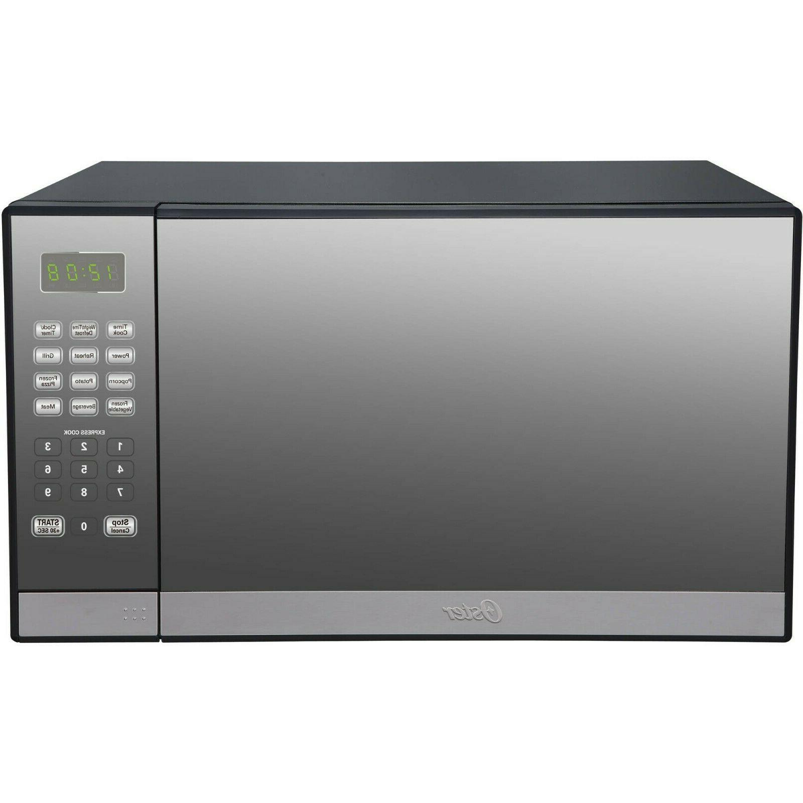 Oster 1.3 Cu. Ft Stainless Steel Mirror Microwave Oven With