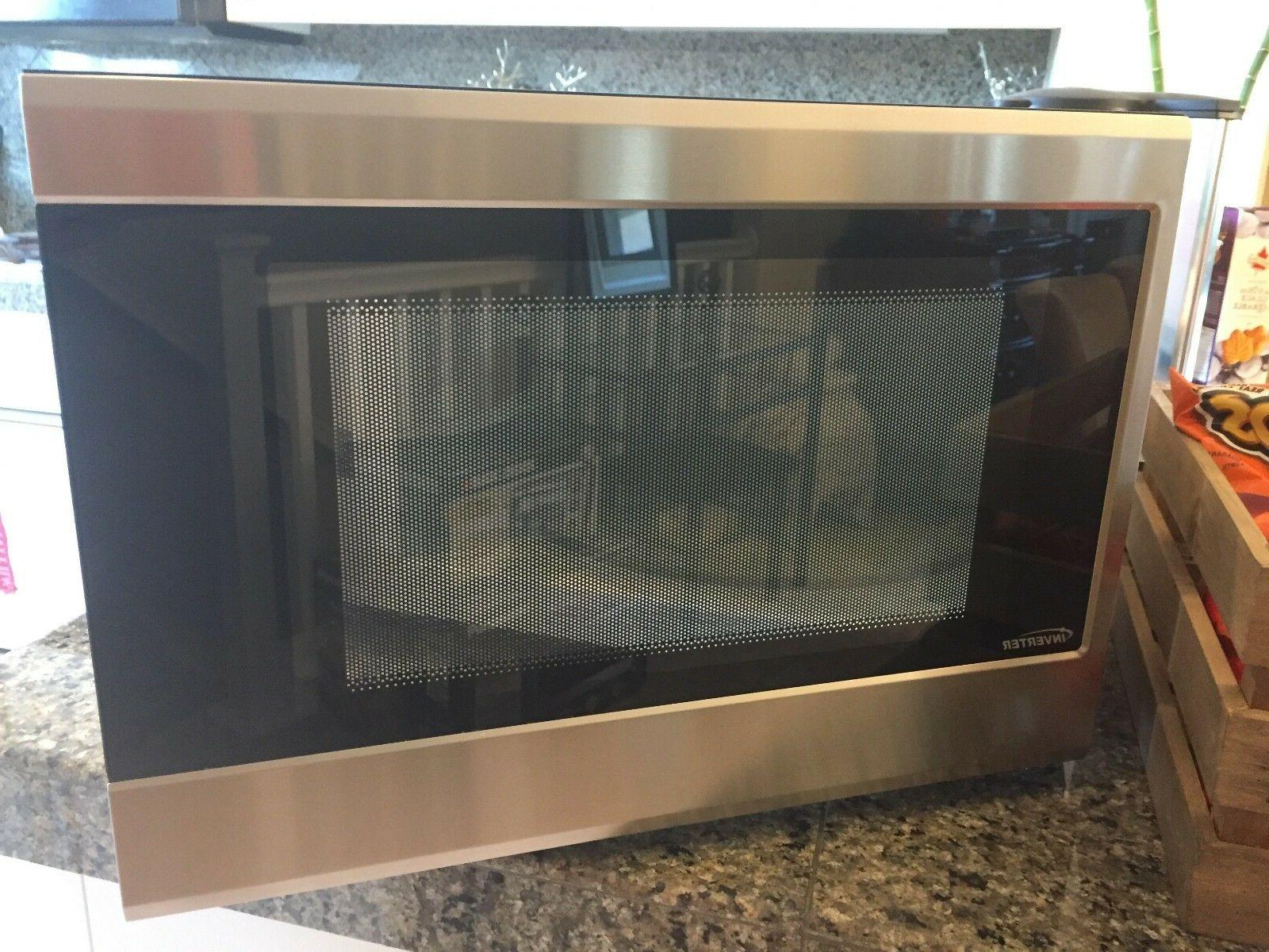 stainless steel microwave oven 1 2 cu