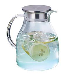 WarmCrystal, Large Glass Cold Teakettle or Teapot, Water Car