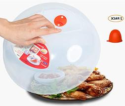 Microwave Plate Cover clear,Easy Grip large microwave Plat