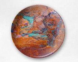 Microwave safe outdoor plate with abstract art, Southwest Ar
